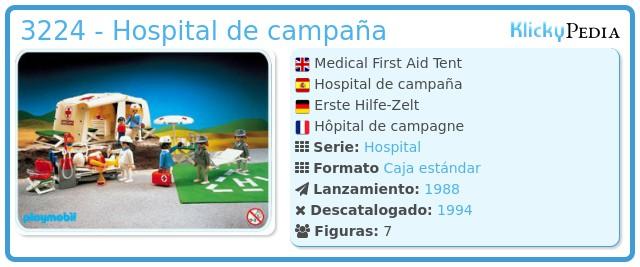 Playmobil 3224 - Hospital de campaña