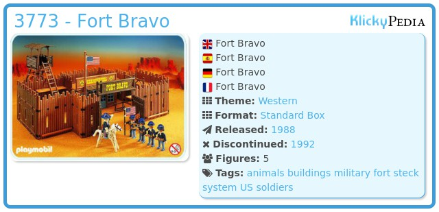 Playmobil 3773 - Fort Bravo