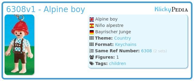 Playmobil 6308v1 - Alpine boy
