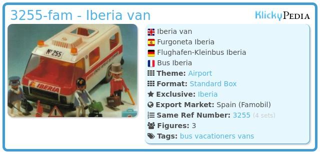 Playmobil 3255-fam - Iberia van
