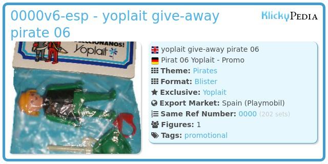 Playmobil 0000v6-esp - yoplait give-away pirate 06