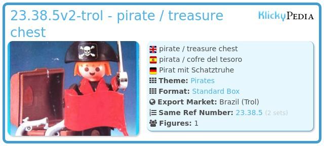 Playmobil 23.38.5v2-trol - pirate / treasure chest
