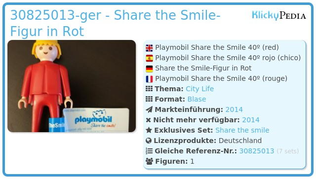 Playmobil 30825013-ger - Playmobil Share the Smile 40º (red)