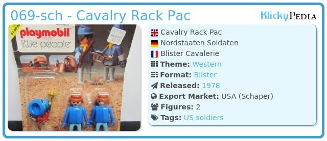 Playmobil 069-sch - Cavalry Rack Pac