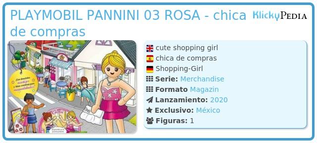 Playmobil PLAYMOBIL PANNINI 03 ROSA - chica de compras