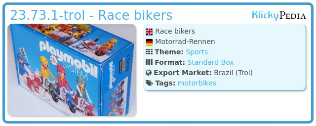 Playmobil 23.73.1-trol - Race bikers
