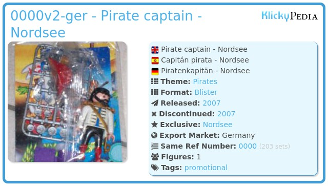 Playmobil 0000v2-ger - Pirate captain - Nordsee
