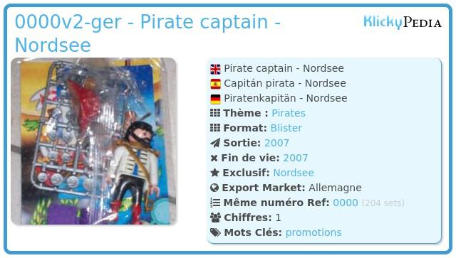 Playmobil 0000v2-ger - Pirate captain - Nordsee