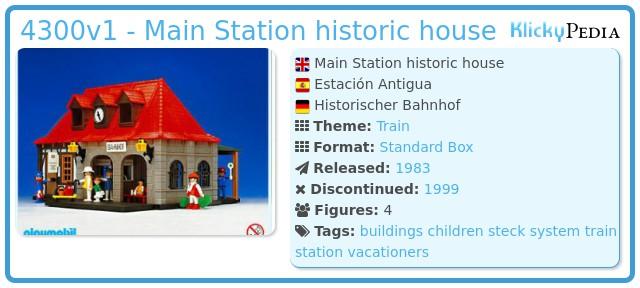 Playmobil 4300v1 - Main Station historic house