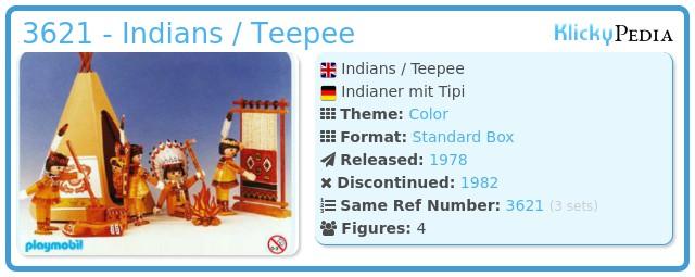 Playmobil 3621 - Indians / Teepee
