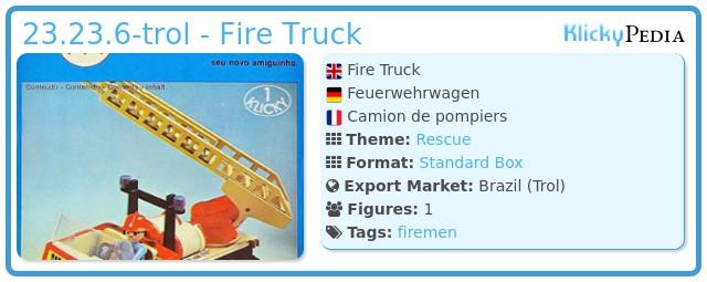 Playmobil 23.23.6-trol - Fire Truck