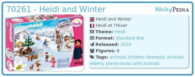 Playmobil 70261 - Heidi and Winter