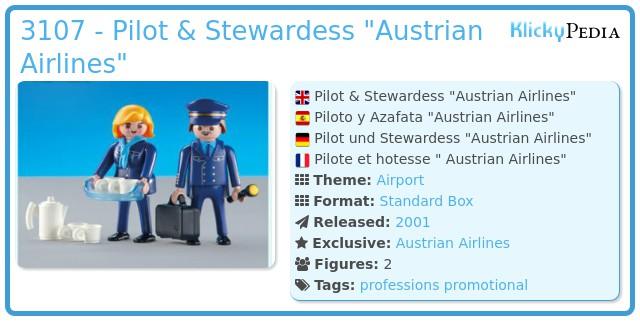 Playmobil 3107 - Pilot & Stewardess