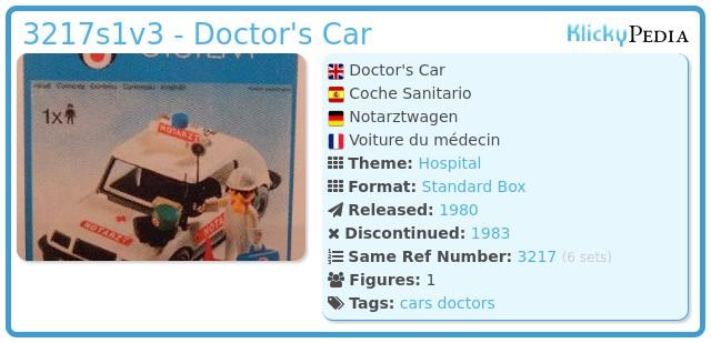 Playmobil 3217s1v2 - Doctor's Car