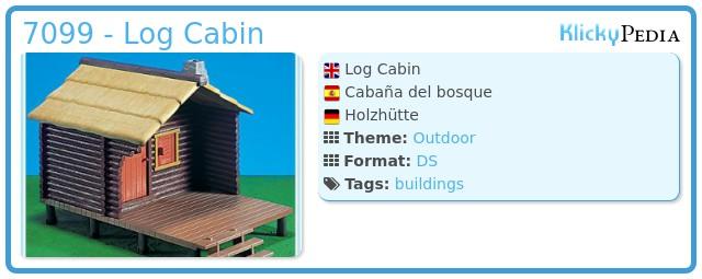 Playmobil 7099 - Log Cabin