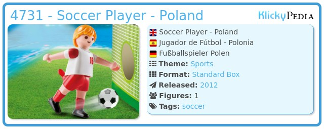 Playmobil 4731 - Soccer Player - Poland