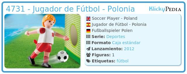Playmobil 4731 - Jugador de Fútbol - Polonia