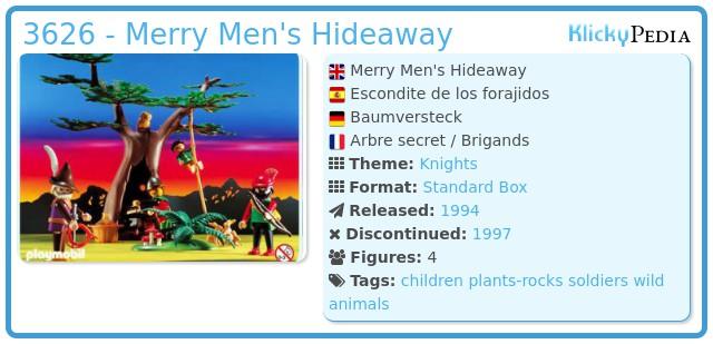 Playmobil 3626 - Merry Men's Hideaway
