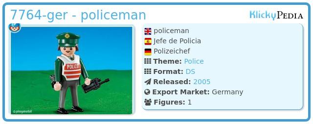 Playmobil 7764-ger - policeman