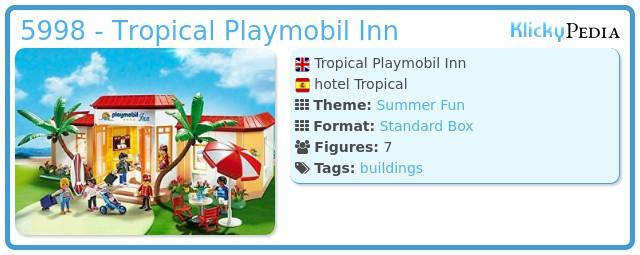 Playmobil 5998 - Tropical Playmobil Inn