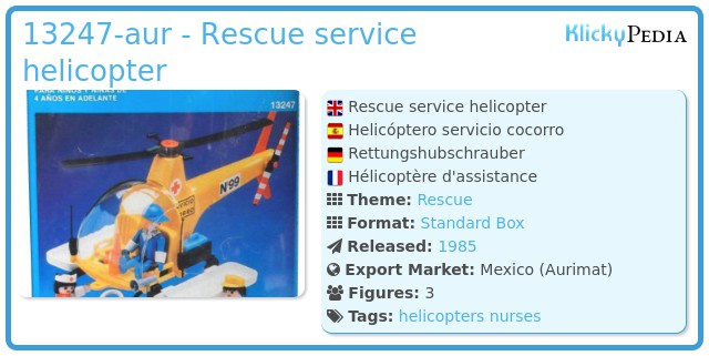 Playmobil 13247-aur - Rescue service helicopter