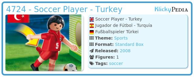 Playmobil 4724 - Soccer Player - Turkey