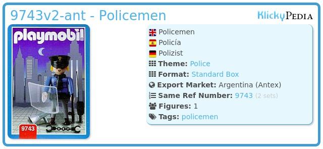 Playmobil 9743v2-ant - Policemen