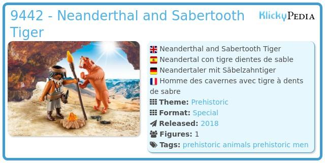 Playmobil 9442 - Neanderthal and Sabertooth Tiger