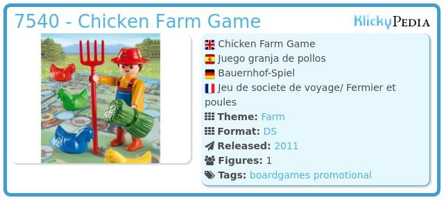 Playmobil 7540 - Chicken Farm Game