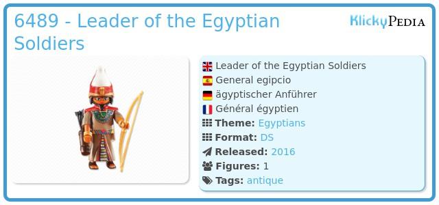 Playmobil 6489 - Egyptian Leader