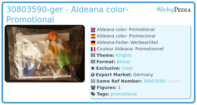 Playmobil 30803590-ger - Aldeana color- Promotional