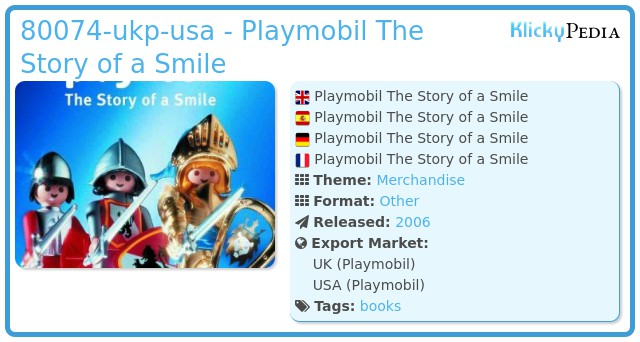 Playmobil 80074-ger - Playmobil The Story of a Smile