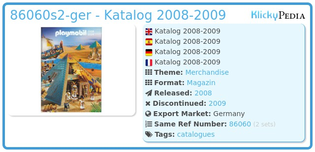 Playmobil 86060-ger - Katalog 2008-2009