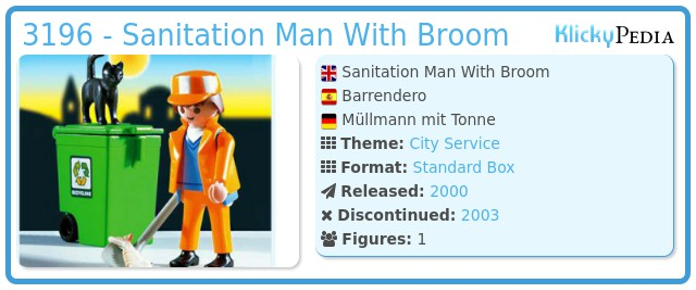 Playmobil 3196 - Sanitation Man With Broom