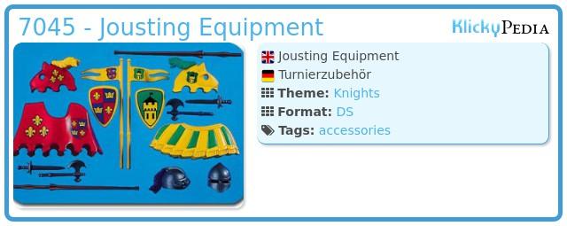Playmobil 7045 - Jousting Equipment