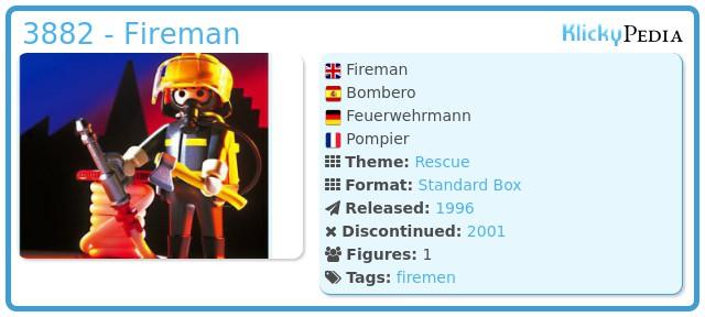 Playmobil 3882 - Fireman