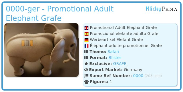 Playmobil 0000-ger - Promotional Adult Elephant Grafe