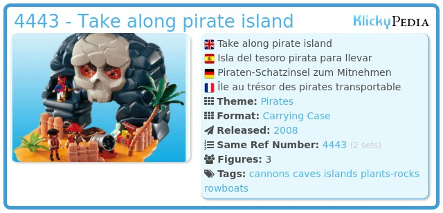 Playmobil 4443 - Take along pirate island