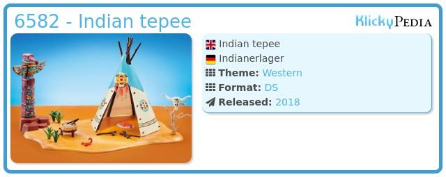 Playmobil 6582 - Indian tepee