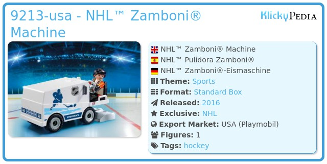 Playmobil 9213-usa - NHL™ Zamboni® Machine