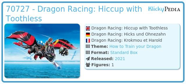 Playmobil 70727 - Dragon Racing: Hicks with Toothless