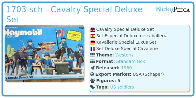 Playmobil 1703-sch - Cavalry Special Deluxe Set