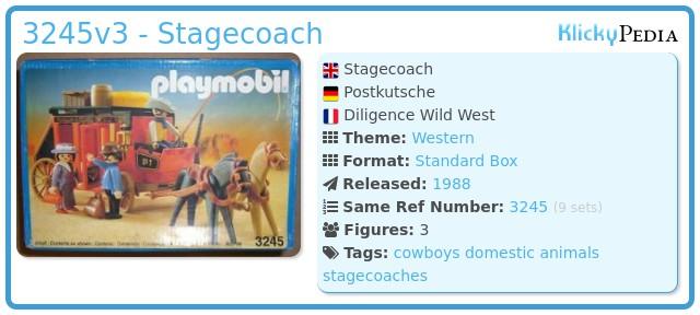 Playmobil 3245v3 - Wild West Stagecoach