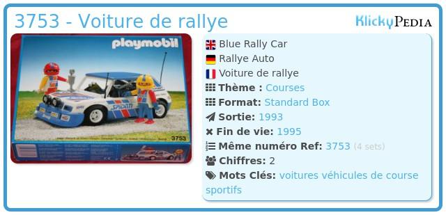 Playmobil 3753 - Voiture de rallye