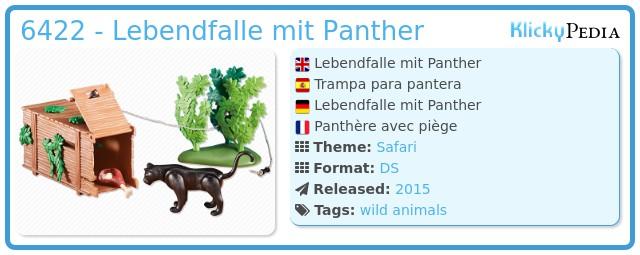 Playmobil 6422 - Lebendfalle mit Panther