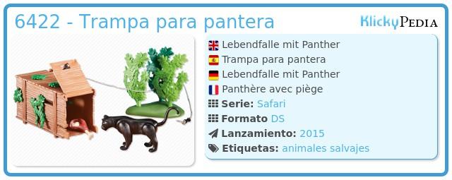 Playmobil 6422 - Trampa para pantera