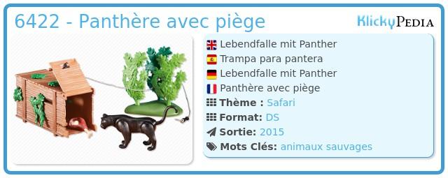 Playmobil 6422 - Panthère avec piège