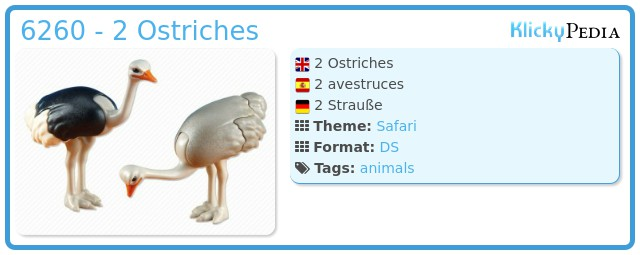 Playmobil 6260 - 2 Ostriches