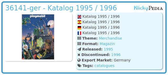 Playmobil 36141-ger - Katalog 1995 / 1996