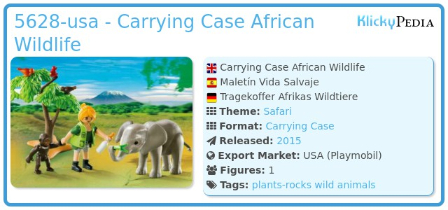 Playmobil 5628-usa - Carrying Case African Wildlife
